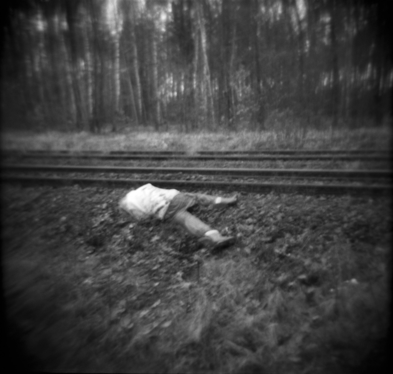 Unknown man found in the village of Sławków  near Dąbrowa Górnicza,  probable cause of death - suicide